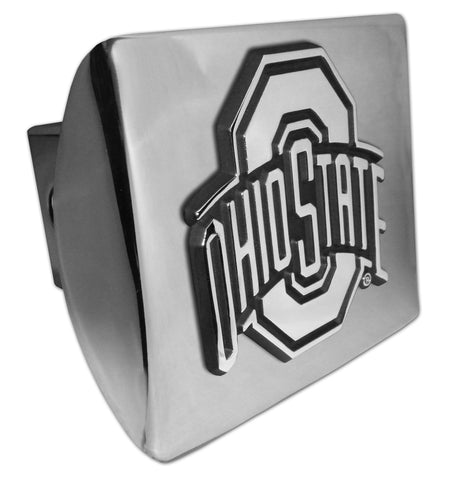 Ohio State Buckeyes Shiny Chrome Metal Hitch Cover NCAA