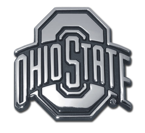 Ohio State Buckeyes Chrome Metal Auto Emblem NCAA