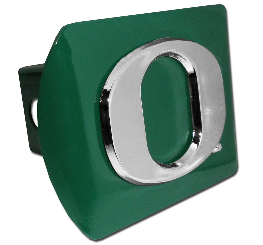 "Oregon Ducks Chrome Metal Green Hitch Cover (""O"") NCAA"