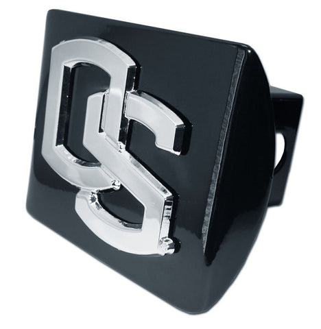 "Oregon State Beavers Chrome Metal Black Hitch Cover (""OS"") NCAA"