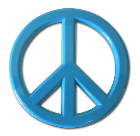 Peace Sign Auto Emblem (Blue Acrylic)