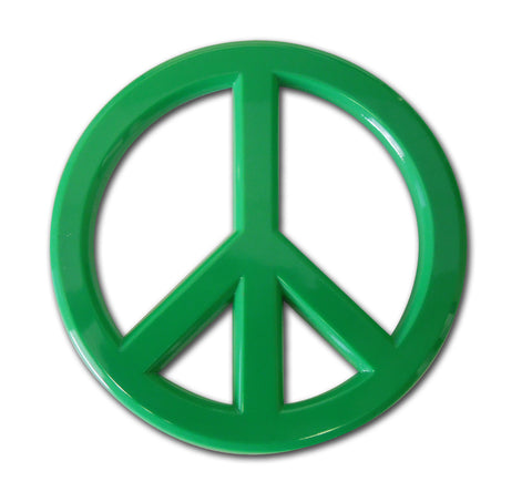 Peace Sign Auto Emblem (Green Acrylic)