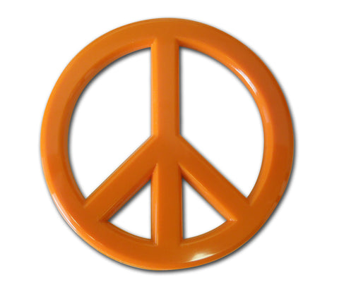 Peace Sign Auto Emblem (Orange Acrylic)