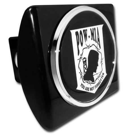 POW MIA You Are Not Forgotten Chrome Metal Hitch Cover (Seal) Military