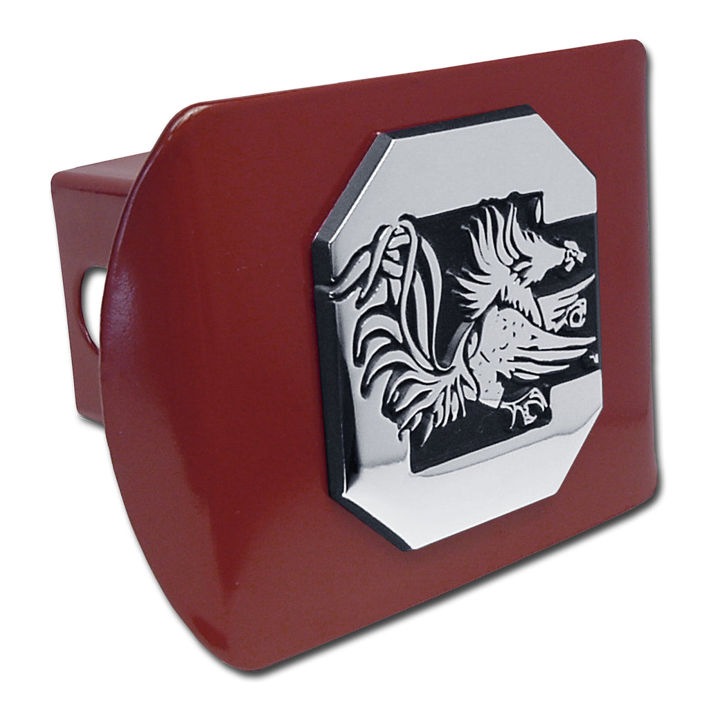 South Carolina Gamecocks Chrome Metal Garnet Hitch Cover (Gamecock) NCAA