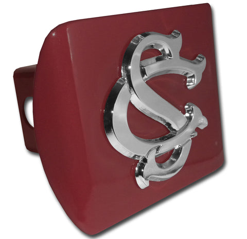 "South Carolina Gamecocks Chrome Metal Garnet Hitch Cover (""SC"") NCAA"