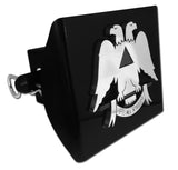 Masonic Black Plastic Hitch Cover (Scottish Rite)