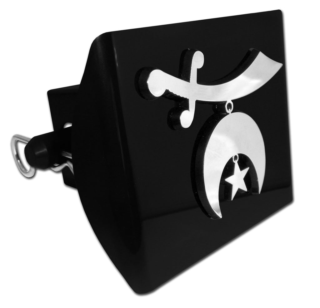 Masonic Black Plastic Hitch Cover (Shriner)
