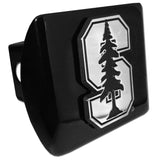 "Stanford Cardinal Chrome Metal Black Hitch Cover (""S"") NCAA Licensed"