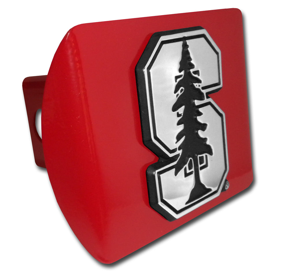 "Stanford Cardinal Chrome Metal Red Hitch Cover (""S"") NCAA"