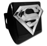 "Superman Chrome Metal Black Hitch Cover (3-D ""S"") DC Comics"
