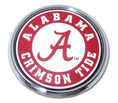 Alabama Crimson Tide Chrome Metal Auto Emblem (Seal) NCAA