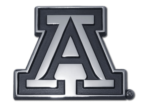 "Arizona Wildcats Chrome Metal Auto Emblem (Block ""A"") NCAA"