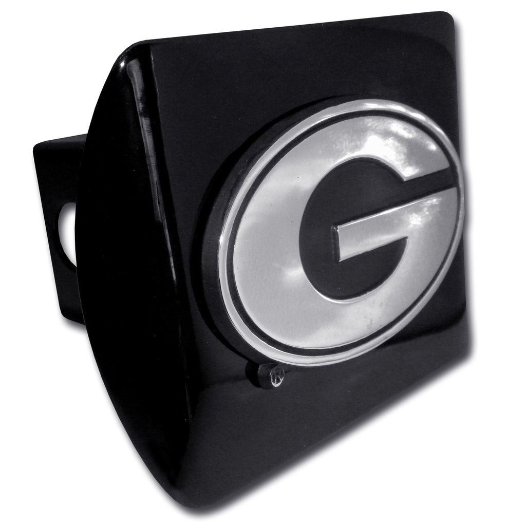 "Georgia Bulldogs Chrome Metal Black Hitch Cover (""G"") NCAA"