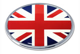British United Kingdom National Flag Chrome Auto Emblem (Oval)