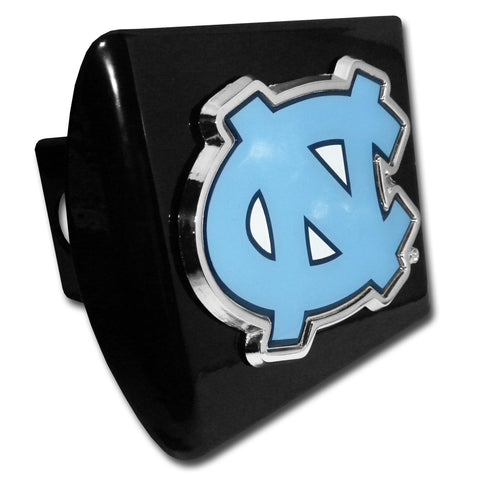 "North Carolina Tar Heels Chrome Metal Black Hitch Cover (""NC"" w/ Color) NCAA"