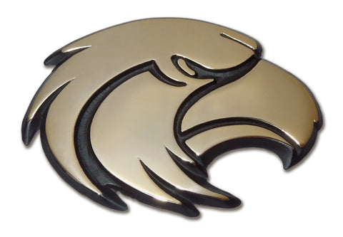 Southern Mississippi Golden Eagles Chrome Metal Auto Emblem (Gold Eagle) NCAA
