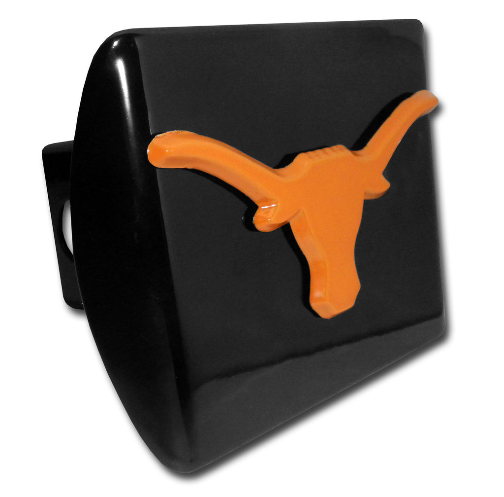 Texas Longhorns Chrome Metal Black Hitch Cover (Burnt Orange Longhorn) NCAA
