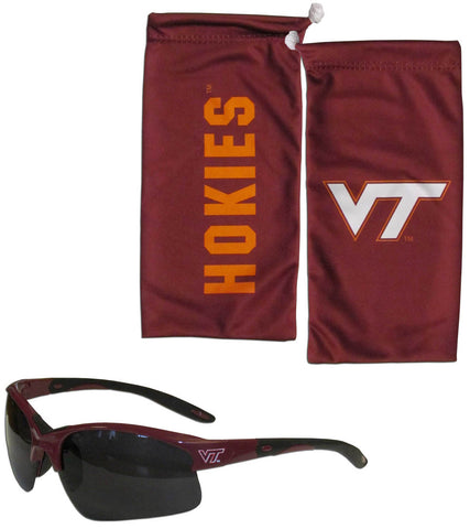 Virginia Tech Hokies Blade Sunglasses With Microfiber Bag (NCAA)
