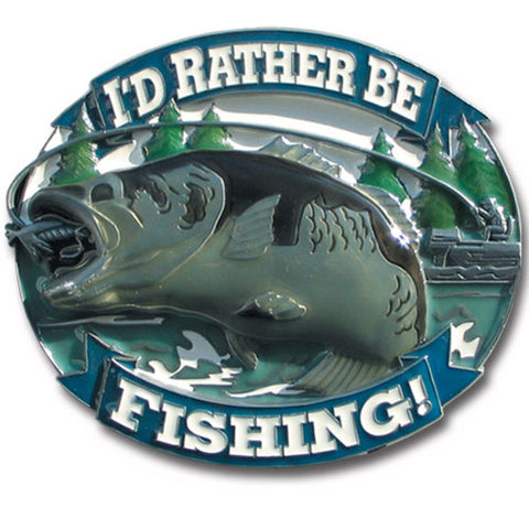 I'd Rather Be Fishing 3-D Metal Hitch Cover