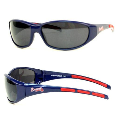 Atlanta Braves Wrap Sunglasses with Microfiber Bag (MLB) Baseball