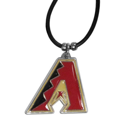 Arizona Diamondbacks Rubber Cord Necklace w/ Logo Charm Licensed MLB Jewelry