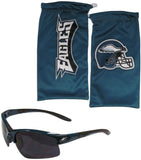 Philadelphia Eagles Blade Sunglasses with Microfiber Bag (NFL)