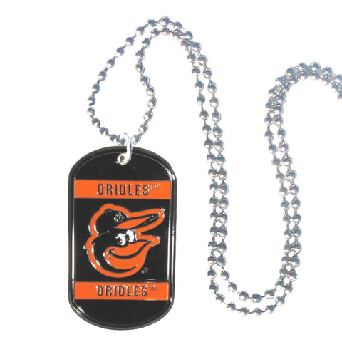 Baltimore Orioles Metal Tag Necklace MLB Licensed Baseball Jewelry
