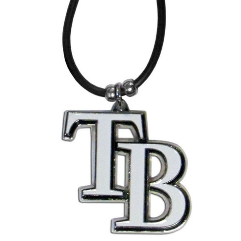 Tampa Bay Rays Rubber Cord Necklace w/ Logo Charm Licensed MLB