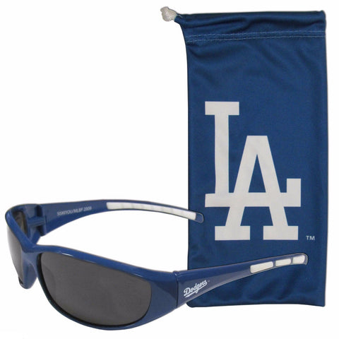 Los Angeles Dodgers Wrap Sunglasses with Microfiber Bag (MLB)