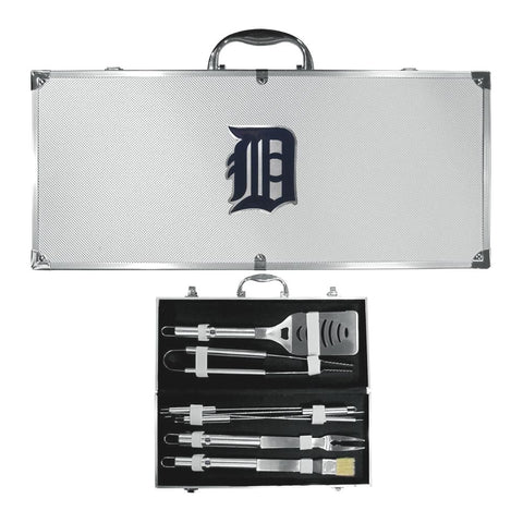 Detroit Tigers 8 Piece Deluxe Stainless Steel BBQ Set with Case (MLB)