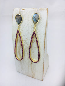 Lila Gemstone Earrings