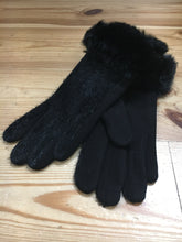 Load image into Gallery viewer, Gloves with Faux Fur Cuff