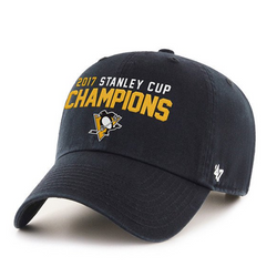 47Brand Pittsburgh Penguins 2017 Stanley Cup Champs Clean Up Cap