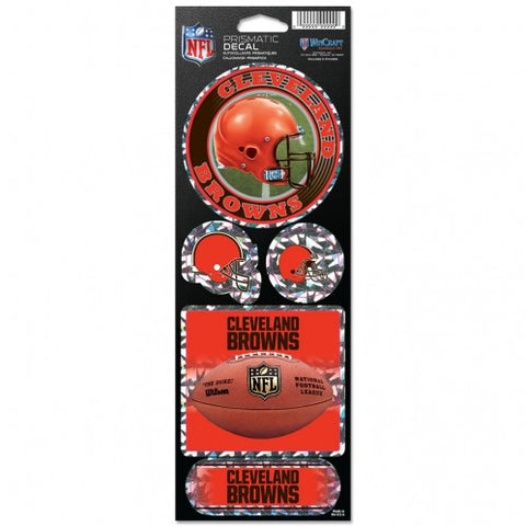WinCraft NFL Prismatic Decal Cleveland Browns