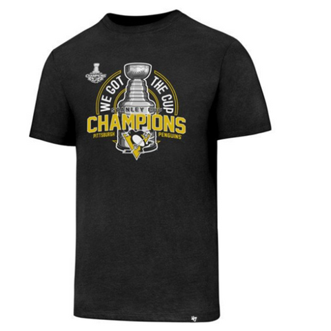 47Brand Pittsburgh Penguins Stanley Cup Champs Club Tee