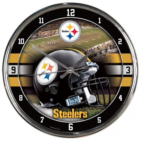 Wincraft Pittsburgh Steelers Chrome Clock
