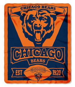 Chicago Bears 50x60 Marque Design Fleece Blanket