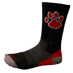 Fairview High School Paw Print Socks
