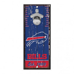 "Wincraft Buffalo Bills Bottle Opener Sign 5""x11"""