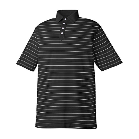 FootJoy Athletic Fit Lisle Stripe Solid Placket Self Collar