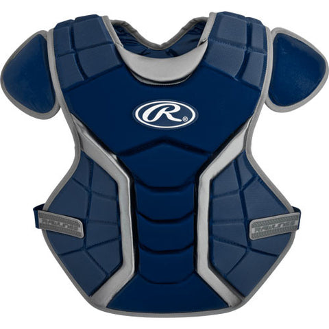"Rawlings Sports Renegade 16"" Chest Protector, Navy/Silver"
