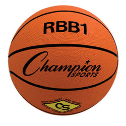 Champion Sports Official Size Rubber Basketball