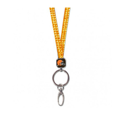 Cleveland Browns Crystal Bling Lanyard