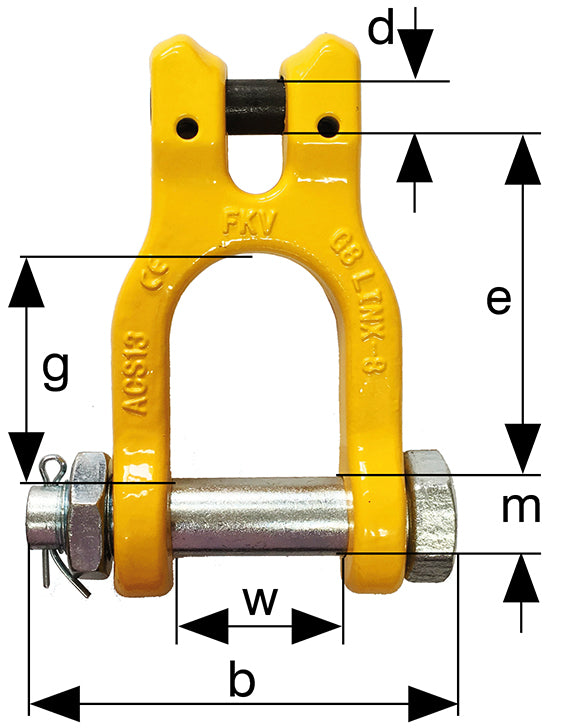 LINX-8 G8 Clevis Shackle ACS
