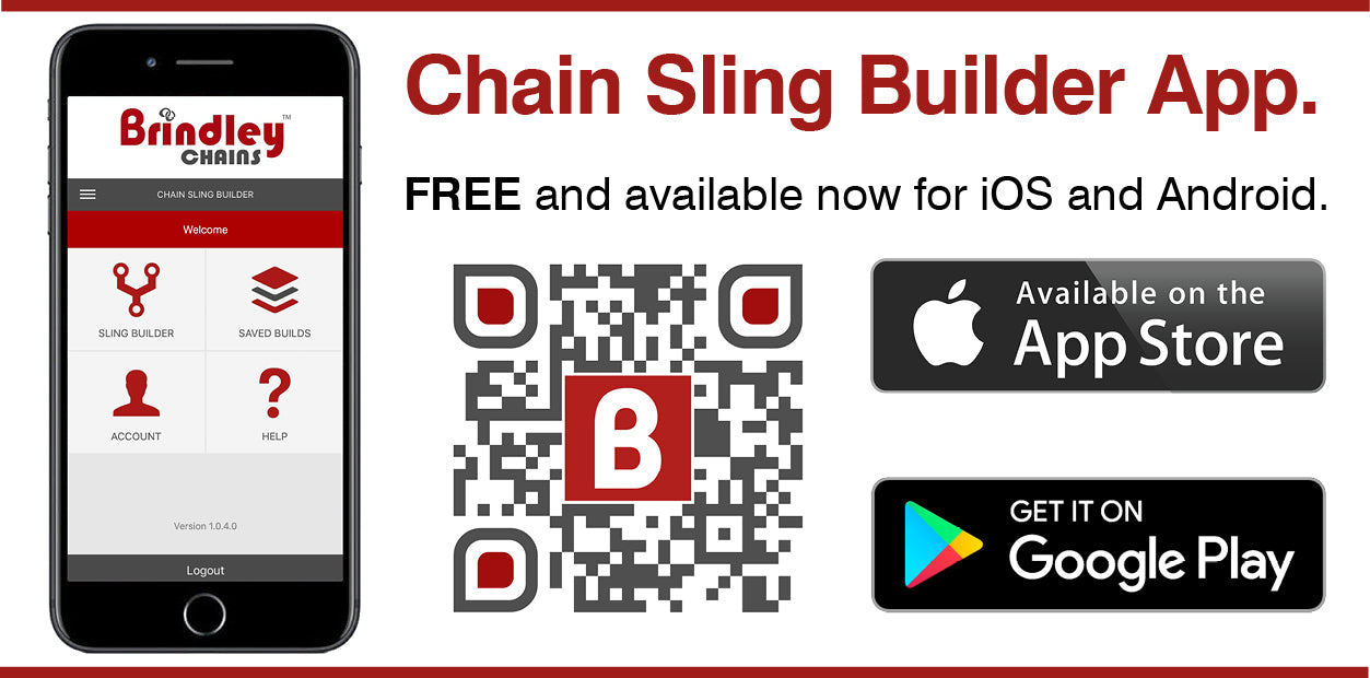 Apple App Sore Google Play Chain Sling Builder App