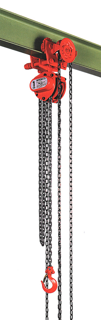Nitchi HGB50A Combined Hand Chain Hoist With Geared Trolley
