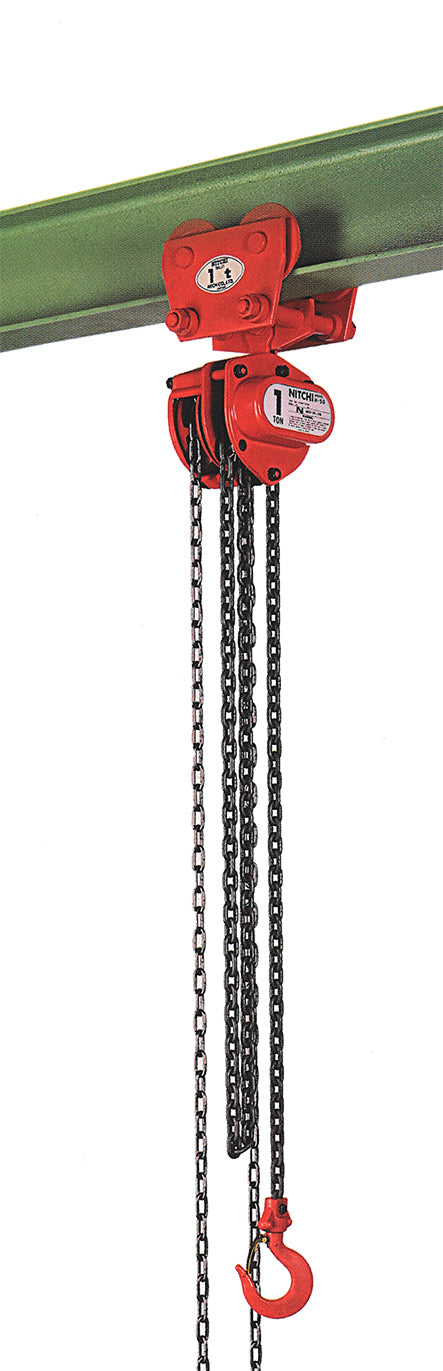 Nitchi HPB50A Combined Hand Chain Hoist With Push Trolley