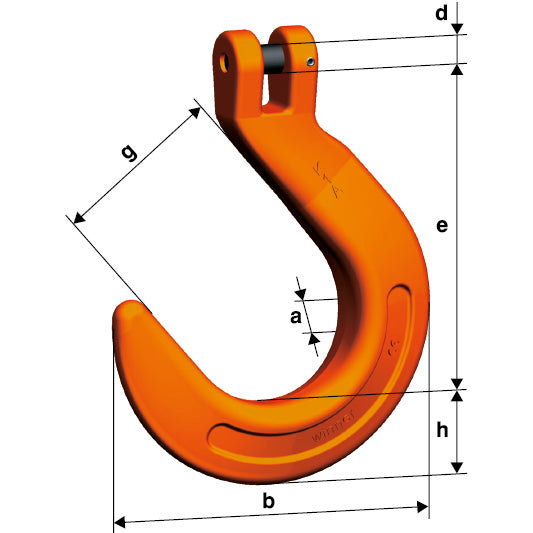 Pewag Winner G10 Clevis Foundry Hook KFW
