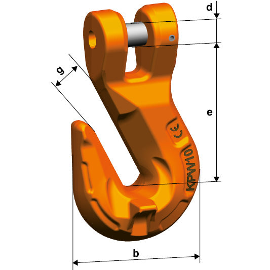 Pewag Winner G10 Clevis Grab Hook KPW